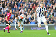West Brom's James McLean (r) goes on the attack. The Emirates FA Cup, 4th round match, West Bromwich Albion v Peterborough Utd at the Hawthorns stadium in West Bromwich, Midlands on Saturday 30th January 2016. pic by Carl Robertson, Andrew Orchard sports photography.