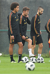 September 5, 2018 - Tubize, BELGIUM - Belgium's Axel Witsel, Belgium's Thorgan Hazard and Belgium's Yannick Carrasco pictured during a training session of Belgian national soccer team the Red Devils in Tubize, Wednesday 05 September 2018. The team is preparing for a friendly match against Scotland on 07 September and the UEFA Nations League match against Iceland on 11 September. BELGA PHOTO BRUNO FAHY (Credit Image: © Bruno Fahy/Belga via ZUMA Press)