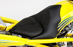 """Top Banana"" custom bike built by Arlen Ness in Dublin, CA, April 7, 2001, photographed by Michael Lichter in Dublin, CA. ©2004 Michael Lichter"
