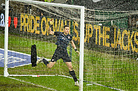 Football - 2020 / 2021 Sky Bet Championship - Swansea City vs Barnsley - Liberty Stadium<br /> <br /> <br /> Jack Walton of Barnsley  in heavy rain in his goal<br /> <br /> COLORSPORT/WINSTON BYNORTH