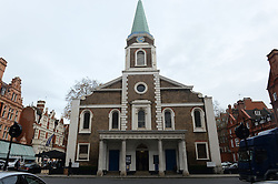 Grosvenor Chapel in London's Mayfair before a memorial service to commemorate the life of Raine Spencer, the stepmother of Diana, Princess of Wales, who died last month aged 87 after a short illness.