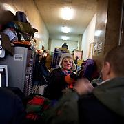 January 27, 2014 - Kiev, Ukraine: Distribution of clothes at a anti-government protestors headquarters in Maidan. (Paulo Nunes dos Santos)