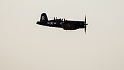 Chance-Vought F4U-7 Corsair of Erickson Aircraft Collection performing at Airshow of the Cascades.