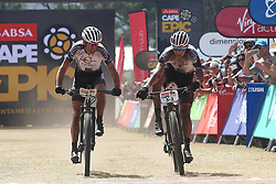 Christoph Sauser and Jaroslav Kulhavy of Investec-Songo-Specialized finish in second place during stage 1 of the 2017 Absa Cape Epic Mountain Bike stage race held from Hermanus High School in Hermanus, South Africa on the 20th March 2017<br /> <br /> Photo by Shaun Roy/Cape Epic/SPORTZPICS<br /> <br /> PLEASE ENSURE THE APPROPRIATE CREDIT IS GIVEN TO THE PHOTOGRAPHER AND SPORTZPICS ALONG WITH THE ABSA CAPE EPIC<br /> <br /> ace2016