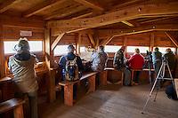 France, Indre (36), le Berry, parc naturel régional de la Brenne, observatoire de l'etang de la Sous // France, Indre (36), le Berry, Brenne, natural park, observatory,  of Etang de la Sous
