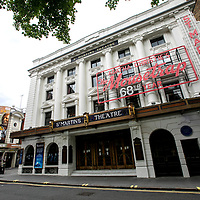 The Mousetrap at St Martin's Theatre;<br />Theatres in lockdown;<br />West End Theatreland, London, UK;<br />7th July 2020.<br /><br />© Pete Jones<br />pete@pjproductions.co.uk