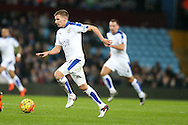 Marc Albrighton of  Leicester city in action.Barclays Premier league match, Aston Villa v Leicester city at Villa Park in Birmingham, The Midlands on Saturday 16th January 2016.<br /> pic by Andrew Orchard, Andrew Orchard sports photography.