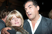 RACHEL JOHNSON; PHILIP KERR, Party for Perfect Lives by Polly Sampson. The 20th Century Theatre. Westbourne Gro. London W11. 2 November 2010. -DO NOT ARCHIVE-© Copyright Photograph by Dafydd Jones. 248 Clapham Rd. London SW9 0PZ. Tel 0207 820 0771. www.dafjones.com.