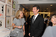 LADY ALISON MYNERS; ALEX TURNBULL, Vanity Fair  hosted  UK Premiere and party for Beyond Time. A film about the artist William Turnbull made by his son Alex Turnbull. Narrated by Jude Law. I.C.A. London. 17 November 2011<br /> <br />  , -DO NOT ARCHIVE-© Copyright Photograph by Dafydd Jones. 248 Clapham Rd. London SW9 0PZ. Tel 0207 820 0771. www.dafjones.com.