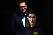An Auslan Interpreter signs as Victorian Premier Daniel Andrews speaks to the media during a press conference in Melbourne, Australia. Victorian Premier Daniel Andrews has announced a 'State of Disaster' and increased restrictions for Victoria. The Premier announced that 671 new cases of COVID were detected, 73 connected to outbreaks, 598 under investigation and seven people died overnight. Stage 3 restrictions will be reintroduced to regional Victoria while Metropolitan Melbourne will now be in Stage 4. An 8pm to 5am curfew will be introduced starting today. (Photo by Dave Hewison/ Speed Media)