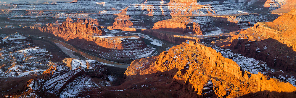 The Colorado River carves its way through the sandstone canyons of Dead Horse Point State Park in Utah.