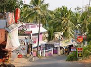 The road towards Kovalam Beach, near Trivandrum (Thiruvananthapuram), Kerala, India