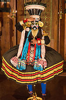 Kathakali is a  classical Indian dance drama noted for the attractive makeup of the characters, elaborate costumes, defined gestures and presented iwith background drumming. . It originated in Kerala during the seventeenth century and is a popular form of entertainment in Kerala state.