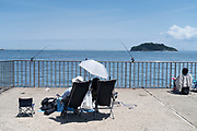 recreational fishing at Tokyo Bay Yokosuka Japan