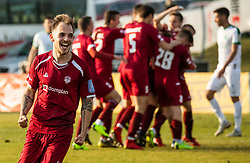 Tom Žurga of Triglav and other players of Triglav celebrate after scoring first goal during Football match between NK Triglav and NK Olimpija Ljubljana in 22nd Round of Prva liga Telekom Slovenije 2018/19, on March 9, 2019, in Sports centre Kranj, Slovenia. Photo by Vid Ponikvar / Sportida