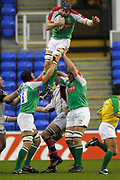 Reading, GREAT BRITAIN, Nick KENNEDY, gathers in the line out ball,during the third round Heineken Cup game, London Irish vs Ulster Rugby, at the Madejski Stadium, Reading ENGLAND, Sat., <br /> 09.12.2006. [Photo Peter Spurrier/Intersport Images]