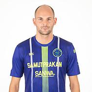 THAILAND - APRIL 09: Aris Zarifovic #27 of Samut Prakan City FC on April 09, 2019.<br /> .<br /> .<br /> .<br /> (Photo by: Naratip Golf Srisupab/SEALs Sports Images/MB Media Solutions)