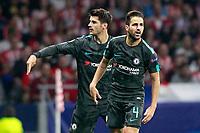 Chelsea FC's Alvaro Morata (l) and Cesc Fabregas celebrate goal during Champions League 2017/2018, Group C, match 2. September 27,2017. (ALTERPHOTOS/Acero)