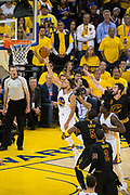 Golden State Warriors guard Stephen Curry (30) lays the ball up against the Cleveland Cavaliers during Game 5 of the NBA Finals at Oracle Arena in Oakland, Calif., on June 12, 2017. (Stan Olszewski/Special to S.F. Examiner)