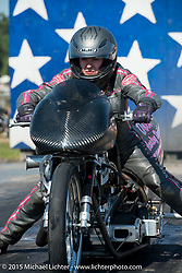 Drag racing at the Sturgis Dragway 75th Annual Sturgis Black Hills Motorcycle Rally.  SD, USA.  August 2, 2015.  Photography ©2015 Michael Lichter.