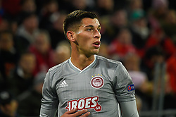 November 6, 2019, Munich, Germany: Lazar Randjelovic from Olympiacos seen in action during the UEFA Champions League group B match between Bayern and Olympiacos at Allianz Arena in Munich. (Credit Image: © Bruno De Carvalho/SOPA Images via ZUMA Wire)