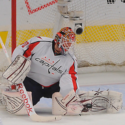 May 12, 2012: Washington Capitals goalie Braden Holtby (70) mishandles a glove save during second period action in game 7 of the NHL Eastern Conference Semi-finals between the Washington Capitals and New York Rangers at Madison Square Garden in New York, N.Y.
