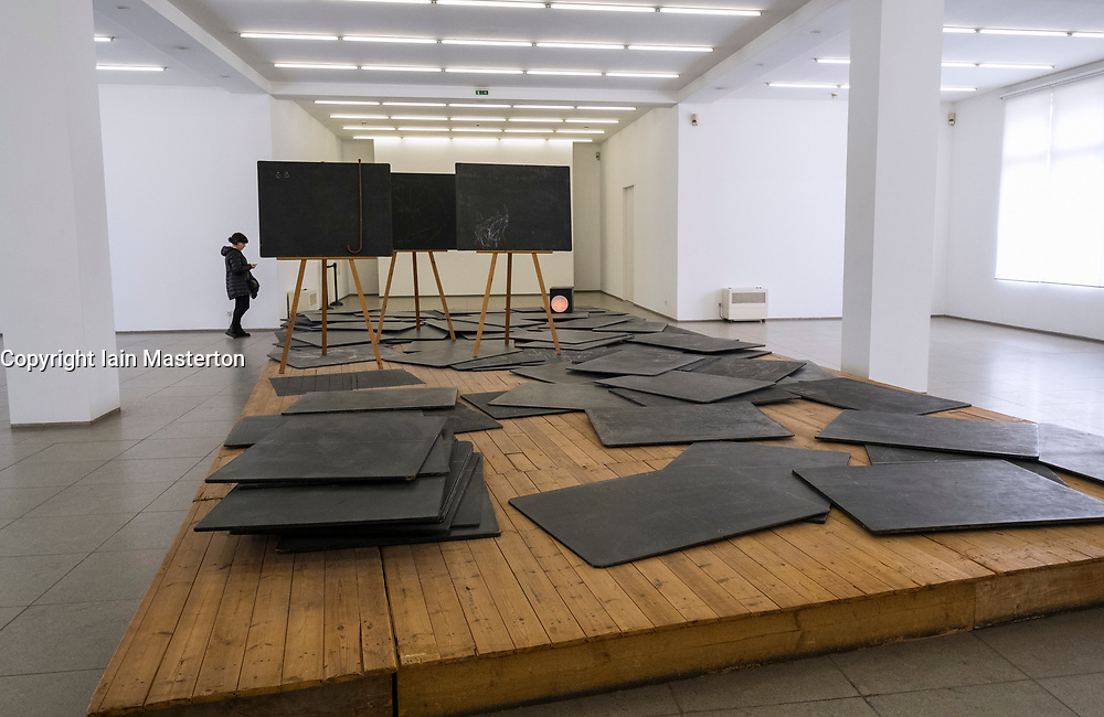Art Installation Richtkrafte einer neuen Gesellschaft by Joseph Beuys at Hamburger Bahnhof modern art museum in Berlin, Germany