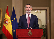 031820 King Felipe VI of Spain gives a speech to the nation about Coronavirus outbreak