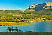 Sofa Mountain overlooking Lower Waterton Lake, Waterton Lakes  National Park, Alberta, Canada