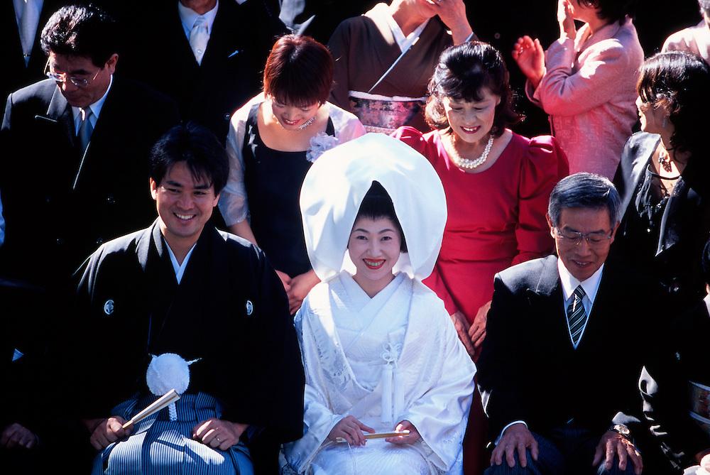 Shinto wedding ceremony, Meiji-Jingu (shrine), Tokyo, Japan