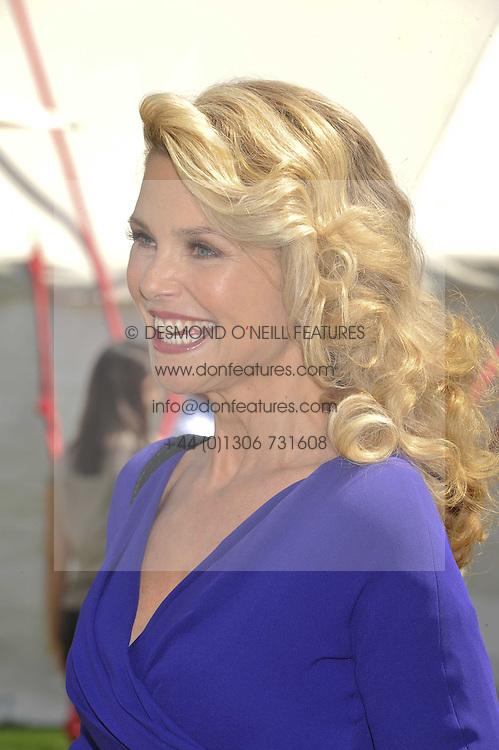 CHRISTIE BRINKLEY at the 27th annual Cartier International Polo Day featuring the 100th Coronation Cup between England and Brazil held at Guards Polo Club, Windsor Great Park, Berkshire on 24th July 2011. at the 27th annual Cartier International Polo Day featuring the 100th Coronation Cup between England and Brazil held at Guards Polo Club, Windsor Great Park, Berkshire on 24th July 2011.