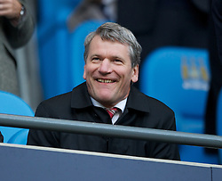 MANCHESTER, ENGLAND - Monday, April 30, 2012: Manchester United chief-executive David Gill during the Premiership match at the City of Manchester Stadium. (Pic by Chris Brunskill/Propaganda)
