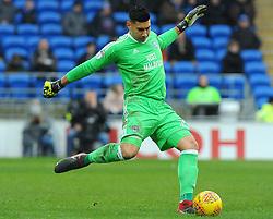 Neil Etheridge of Cardiff City in action - Mandatory by-line: Nizaam Jones/JMP- 13/01/2018 -  FOOTBALL - Cardiff City Stadium - Cardiff, Wales -  Cardiff City v Sunderland - Sky Bet Championship