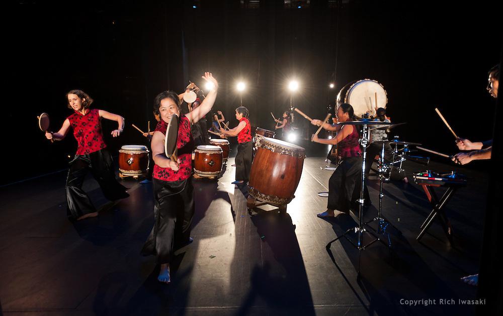 "Portland Taiko performance ""Beat Salad: U Pick"", Newmark Theatre, Portland Center for the Performing Arts, Portland, Oregon"