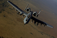 A U.S. Air Force A-10 Thunderbolt aircraft moves into position to receive fuel May 29, 2008 from a KC-135 Stratotanker during a mission over Afghanistan. A-10 is deployed to Operation Enduring Freedom and the KC-135 is assigned to the 22nd Expeditionary Air Refueling Squadron, 376th Air Expeditionary Wing Manas Air Base Kyrgyzstan and is deployed from 141st Air Refueling Wing Fairchild Air Force Base Wash. (U.S. Air Force photo by Master Sgt. Andy Dunaway) (Released).