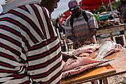 Fresh fish market Montagu beach Nassau, Bahamas.