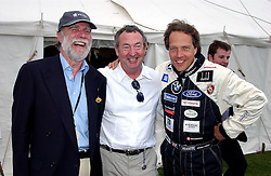 "Left to right, VISCOUNT COWDRAY, NICK MASON and the EARL OF MARCH at a luncheon hosted by Cartier at the 2004 Goodwood Festival of Speed on 27th June 2004.  Cartier sponsored the ""Style Et Luxe' for vintage cars on the final day of this annual event at Goodwood House, West Sussex."