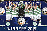 15/03/15 SCOTTISH LEAGUE CUP FINAL<br /> DUNDEE UTD v CELTIC<br /> HAMPDEN - GLASGOW<br /> Team cele