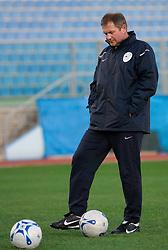 Head coach  of Slovenian National football team Matjaz Kek at practice a day before the last 2010 FIFA Qualifications match between San Marino and Slovenia, on October 13, 2009, in Olimpico Stadium, Serravalle, San Marino.  (Photo by Vid Ponikvar / Sportida)