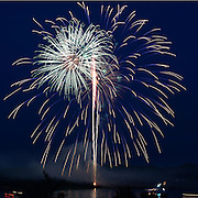BATH, Maine -- 7/5/15 -- Bath Heritage Days Fireworks. Photo © 2015 Roger S. Duncan