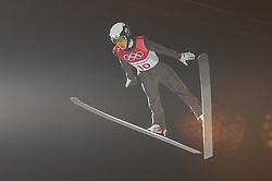 February 10, 2018 - Pyeonchang, Gangwon, South Korea - Andreas Alamommo ofFinland at mens normal hill final at 2018 Pyeongchang winter olympics at Alpensia Ski Jumping Centre, Pyeongchang, South Korea on February 10, 2018. Ulrik Pedersen/Nurphoto  (Credit Image: © Ulrik Pedersen/NurPhoto via ZUMA Press)