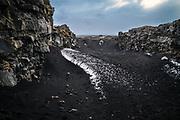 Þingvellir, Iceland, 31 mar 2019, Valley of the national parc of Þingvellir, where the tectonical european plate meets the american plate.