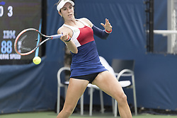 August 31, 2017 - New York, New York, United States - Christina McHale of USA returns ball during match against Daria Kasatkina of Russia at US Open Championships at Billie Jean King National Tennis Center  (Credit Image: © Lev Radin/Pacific Press via ZUMA Wire)