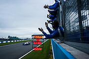 2012 British F3 International Series.Donington Park, Leicestershire, UK.27th - 30th September 2012.Jack Harvey's team celebrates his 2012 championship win. ..World Copyright: Jamey Price/LAT Photographic.ref: Digital Image Donington_BritF3_Sun-11414