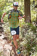 Kerhonkson, New York - Brennan Wysong runs along the trail at Minnewaska State Park Preserve during the Shawangunk Ridge Trail Run/Hike 32-mile race  on Sept. 20, 2014.