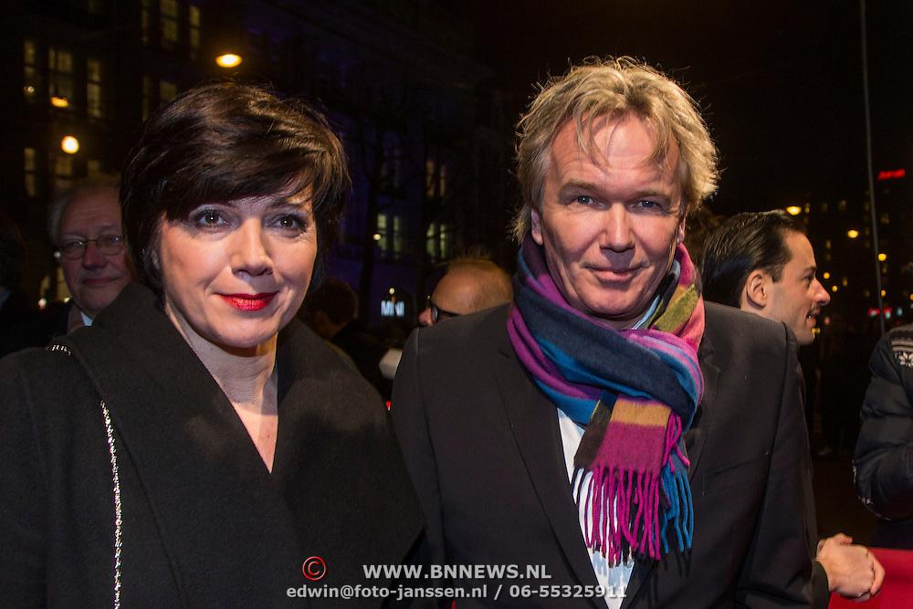 NLD/Amsterdam/20140307 - Boekenbal 2014, Tom Egbers en partner Janke Dekker