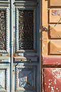 Weathered blue door in Casablanca, Morocco