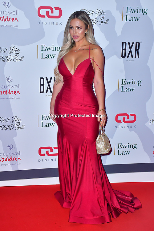 Holly Hagan arrive at Float Like A Butterfly Ball for Caudwell Children Charity at Grosvenor House Hotel on 16 November 2019, London, UK.