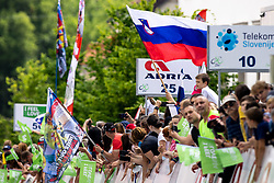 Fans and flags during the 5th Stage of 27th Tour of Slovenia 2021 cycling race between Ljubljana and Novo mesto (175,3 km), on June 13, 2021 in Slovenia. Photo by Matic Klansek Velej / Sportida