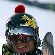 SHOT 1/26/08 3:05:02 PM - Norwegian snowboarder Andreas Wiig  from Oslo was all smiles while being interviewed after winning the Snowboard Slopestyle event Saturday January 26, 2008 at Winter X Games Twelve in Aspen, Co. at Buttermilk Mountain. Wiig won the event with a score of 92.00, beating out U.S. riders Kevin Pearce (88.33) and Shaun White (83.33). It was the second year in a row Wiig has won gold in the event. The 12th annual winter action sports competition features athletes from across the globe competing for medals and prize money is skiing, snowboarding and snowmobile. Numerous events were broadcast live and seen in more than 120 countries. The event will remain in Aspen, Co. through 2010..(Photo by Marc Piscotty / WpN © 2008)